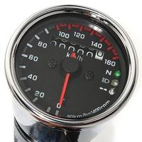Universal Motorcycle LED Dual Odometer Test Miles Speedometer Gauge