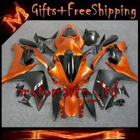 * YZFR1 2007 2008 orange black Fairing YZF-R1 07-08 Fairings Bodywork Plastic Kit Set Fit For yamaha YZF R1 2007 2008 27 W10