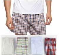 High Quality Plaid 100% Cotton Men'S Underwear Male Boxers Shorts Loose Cozy Underpants Cuecas Plus Size XXXL