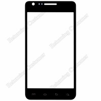 High Quality Front Glass Screen Glass for Samsung Galaxy S2 i777 Replacement Black/White