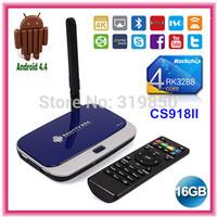 CS918II RK3288 Android TV Box Quad Core IPTV XBMC 1.8GHz 2G RAM 16G HDMI H.265 2.4G/5GHz WiFi OTG Optical SPDIF TV Box AV Out