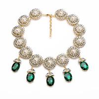 xl01178 2014 Fashion Wedding Party Gift luxury Rhinestone Crystal Pearl Pendants Necklaces Women Statement Collar