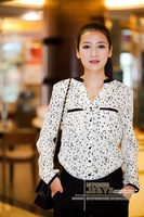 Brand New plus size womens blouses summer Women Shirt  Vintage Blouse Long Sleeve free shipping