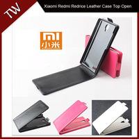 Xiaomi Redmi redrice note Case cover Good Quality Top Open PU Flip case cover for Xiaomi redrice Note cellphone free shipping