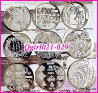 10pcs/lot  Qgirl Stamping Plates Qgirl1-40  Free Shipping  Qgirl Nail Plates