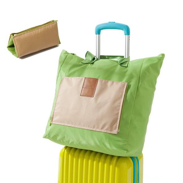 2014 Portable Travel Handbag for Women Picnic Bags Large Capacity Folding Soft Shopping Bag Outdoor Package Free shipping(China (Mainland))