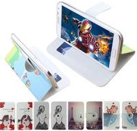 Print drawings 360 rotation pu leather cartoon Universal case for Jiayu F1,gift