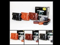 High Quality 3 Colors Camera Bag Leather Camera Hard Case Bag Cover For Fujifilm Fuji X30 Free Shipping