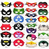 New Super hero mask kids eyemask cosplay superman mask batman cosplay mask captain america spiderman kids Satin mask