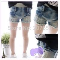 free shipping 5PCS /lot clothing clothing baby girls jeans shorts girls korean fashion denim shorts