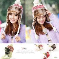 The 6019 children of Korean winter cap thickened super warm knitting wool cap cap cap cap wholesale Lei Feng earmuffs