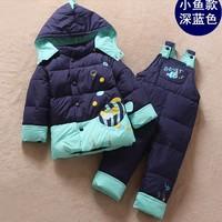 boy girl's down jacket in winter children's coat baby down jacket suit (2 piece) baby boy clothing