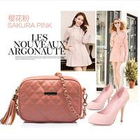 Han Lingge chain diagonal female bag 2014 new fashion single shoulder bag packet Q13