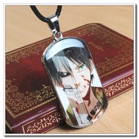 Hot sale Attack On Titan Army Card Dog Tag Stainless steel Comics Movie Game Cartoon Retro Chain Necklace Pendant Carving(WX067)