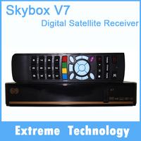 5pcs Original S-V7 DVB-S2 Satellite tv Receiver SKYBOX V7 VFD Support WEB TV USB Wifi Biss Key Youporn CCCAMD better than f5