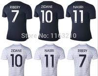 Top Thailand!! New 14 15 Francia Soccer futbol Jerseys 2015 Francio A+++ Franca Football Shirts Free Shipping Customized