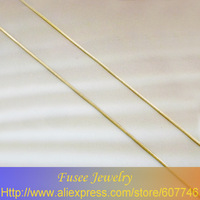 HIB08401246/60&3 Copper 18K gold plated square Snake chain necklace 2pcs/lot