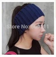 Knit Womens headwear Crochet Headband Knitted Headwrap Ear Warmer Yarn hairband 1pc WH061