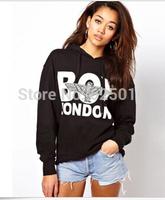 Womens BOY LN Hoodie Pullover Casual Hoodie Black New Women's girl Long sleeve Hoodies Tops Sweatshirt Pullover