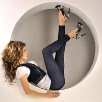 2014 Fashion Women faux Jeans Denim Printing Pencil Pants Lady Tight Pencil Jegging Trousers Casual Capris 13358A.