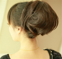 free shipping Womens synthetic  Hairpiece  Chignon  large ball  hair bun Short Wavy  Synthetic Hair Ponytail