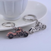 vintage motorcycle simulate key ring Metal scooter keychian silver plating autobike key chains