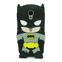 Black 3d Cartoon Hero Batman Soft Silicone Back Case Cover Skin for Samsung Galaxy S4 I9500