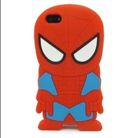 3D Cartoon Spiderman The Avengers superheros series Soft Silicone Case Skin Cover For Apple iPhone 5C  (Spiderman)