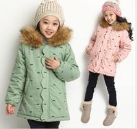 Girls Winter Warm Jacket Kids Girls Outwear Coats Winter Jacket for Girls Kids Hooded Coat Children Outerwear Girl Down & Parkas