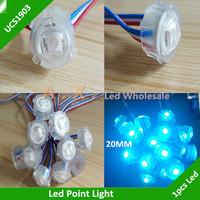 UCS1903 Led Point Light Waterproof IP65 Led Pixel Modules Full Color 20mm Diameter DC5V 3Led SMD5050