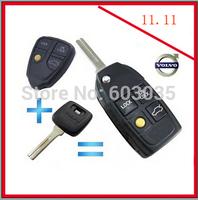 DOUBLE 11 3+1 Button Modified Flip Folding Remote Key Shell For VOLVO XC70 XC90 S40 S60 S70 S80 S90 V40 V70 V90 C70 Case FOB
