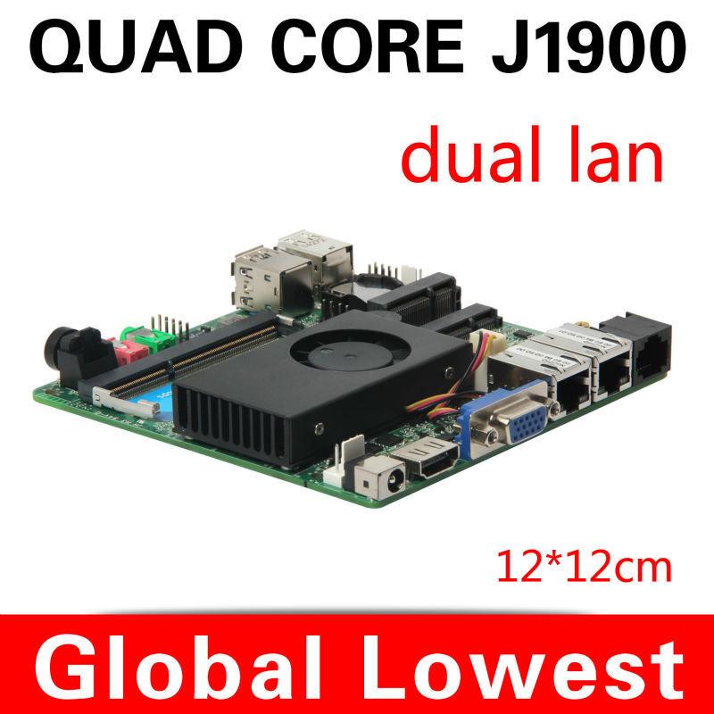 2014 newest industrial mothebroard x-29 J1900 celeron quad-core fan desktop 2 lan mini itx motherboard(China (Mainland))