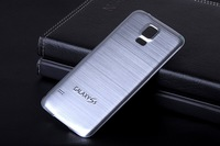 S5 Metal Brush Phone Case For Samsung Galaxy S5 Case i9600 Aluminum Battery Back Cover With Embedded Logo