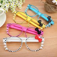 Free Shipping 30 pcs/lot Fashion Cartoon Kitten Ballpoint Pens for Children Novelty Glasses Ball Pen Gift Pen School Supplies
