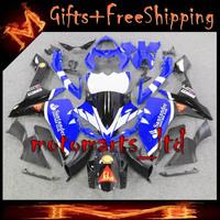 * YZFR1 2007 2008 blue black ABS Plastic Fairing  Set Fit For yamaha YZF R1 2007 2008 YZF-R1 2007 2008  E21 W4