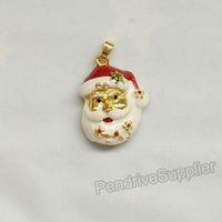 Lovely jewelry pen drive Christmas Santa Claus model USB flash drive 2.0 Pen stick memory U disk 4GB 8GB 16GB 32GB