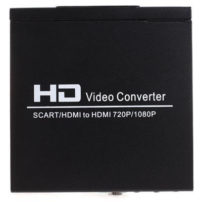 New 720P 1080P HD Scart / HDMI to HDMI Video Converter Monitor For HDTV DVD STB free shipping 1pcs 1 pcs(China (Mainland))