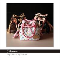 2015 new famous brand women leather handbags child girls messenger bags kids cute tote purses woman bolsas shoulder school bags