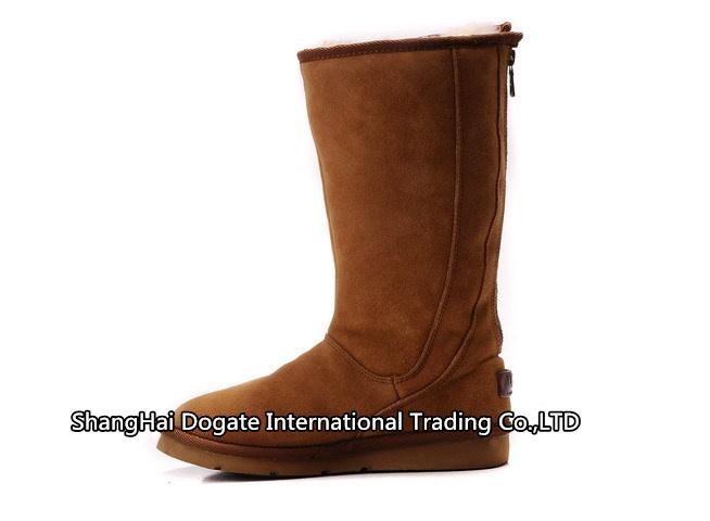 Int'l Brand Australia Brand snow boots women's winter boots genuine leather knee high 5119 zipper Sheepskin boots(China (Mainland))