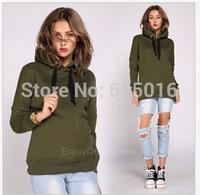 New 2014 Women's girl Long sleeve Hoodies Tops Sweatshirt Pullover Warm  Outwear Hooded Sweatshirts Tops Coat Jaket