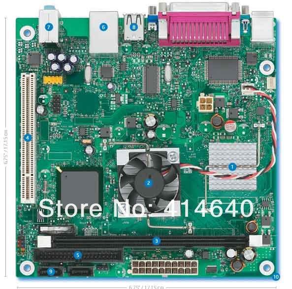 (Intel)D945GCLF Atom 230 17*17 MINI POS Main board with 90 days warranty(China (Mainland))