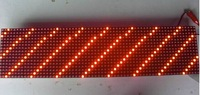 Wholesale LED bus display moudle P6 Semi-outdoor red 768*96mm with high brightness