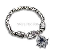 Free Shipping 20pcs a lot  antique silver  Enamel  Fashion single side Dallas Cowboy  Pendant Lobster Claw Bracelet