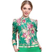 New Fashion Women casual blouse  plus size blusas femininas 2014 for women Tops shirt