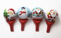 free shipping 20pcs chirstmas foil balloon clapper balloon chirstmas decoration balloon