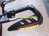 Free shipping Motorbike /atv Quad Bike Handguards - Inbuilt Daytime Running Lights Turn lights gauntlets bow , orange led light