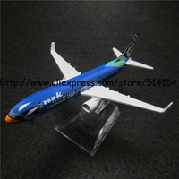 16cm Alloy Metal Blue Thai NOK Air Airlines Boeing 737 B737 Airways Plane Model Airplane Model w Stand Aircraft Toy Gift