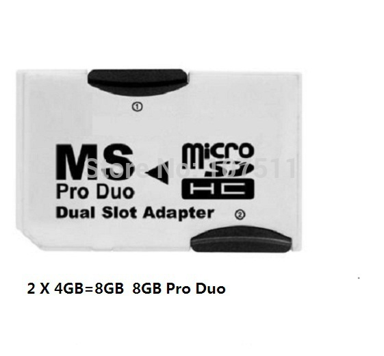Dual Pro Memory Stick Pro Duo 8GB ( 2 x 4GB Micro SD)(China (Mainland))
