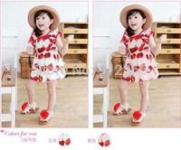 2015 new childrens dress baby girls clothes flying sleeve Princess Dress,14NOV30