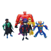 (6pieces/lot) Newest Marvel Movie Big Hero 6 Toys PVC Action Figure Toy for Collection